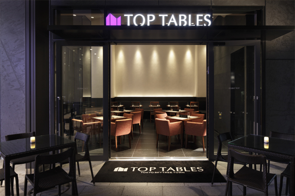 TOP TABLES - TOKYO SKYTREE TOWN